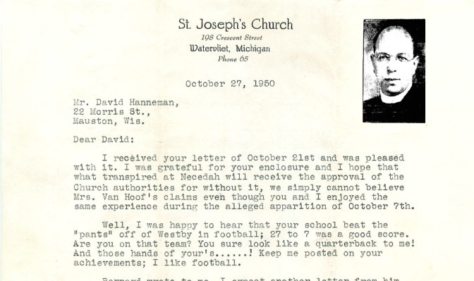 Priest Advises Caution About October 1950 Marian 'Apparition'