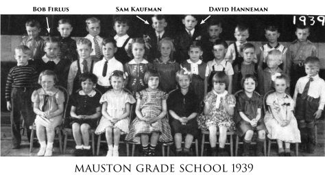 Bob Firlus, Sammy Kaufman and David Hanneman are shown in this early grade school photo.