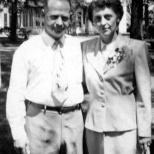 Carl F. and Ruby V. Hanneman on their 25th wedding anniversary in July 1950.