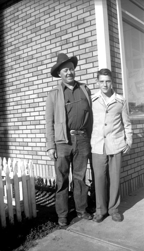 Hiram Greene with David D. Hanneman in July 1945.