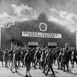 The Knights of Columbus sent scores of volunteers to Europe in World War I to operate recreation centers for soldiers and provide comfort at the front.