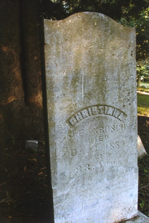 The grave of Christiana (Schlagel) Krosch at Elmore, Minnesota.