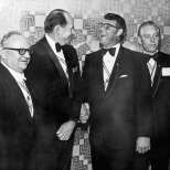 David D. Hanneman (third from left) on the day in April 1973 he became a Fourth Degree Sir Knight.