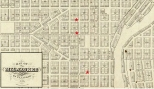 The Treutel family lived and worked at various locations in Downtown Milwaukee in the 1850s and 1860s.