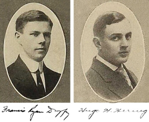 Students Francis Ryan Duffy and Hugo H. Hering petitioned the Board of Regents to accept the plaque in 1910.