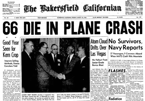 The Bakersfield, California paper from March 22, 1955.