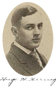 Student Hugo H. Hering chaired the memorial committee.