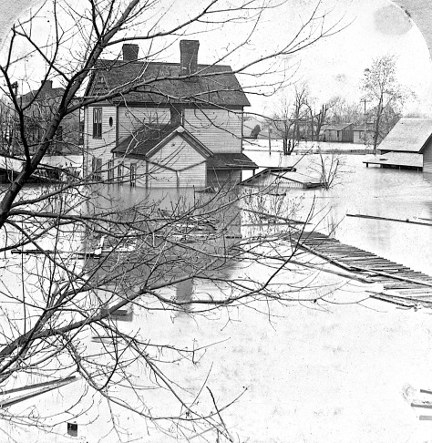 Another image shot by B.L. Singley shows the devastation from the flood.