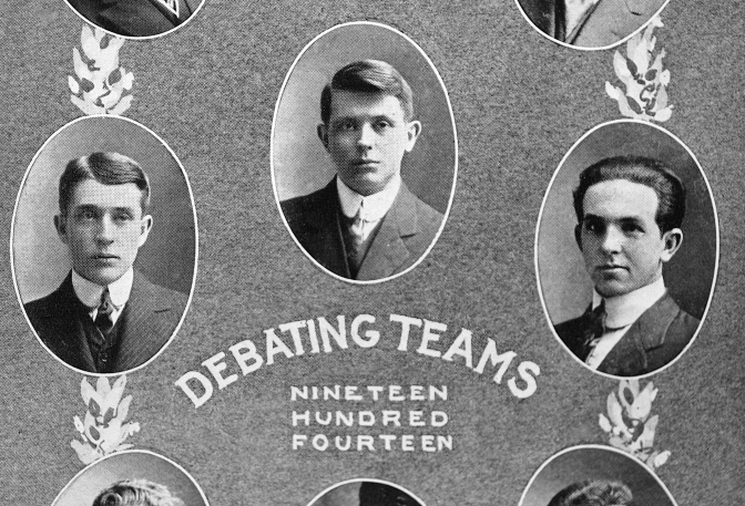 Eye on the Past: 1914 Wisconsin Debate Team