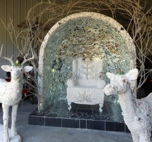 "Mary Dickey's roadside shrine, ""A Call to Beauty."""