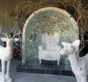 "Mary Dickey's roadside shrine, ""A Call to Beauty."""