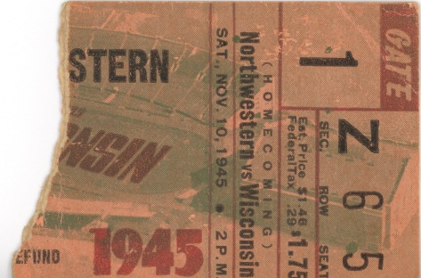 The ticket stub was like an invitation to re-live the 1945 homecoming game.