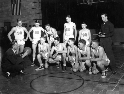 Almeron Freeman (No. 30) played for Mauston with David D. Hanneman (second from left in front row).