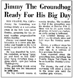 Jimmy made front-page news in The Troy Record in New York in 1970.