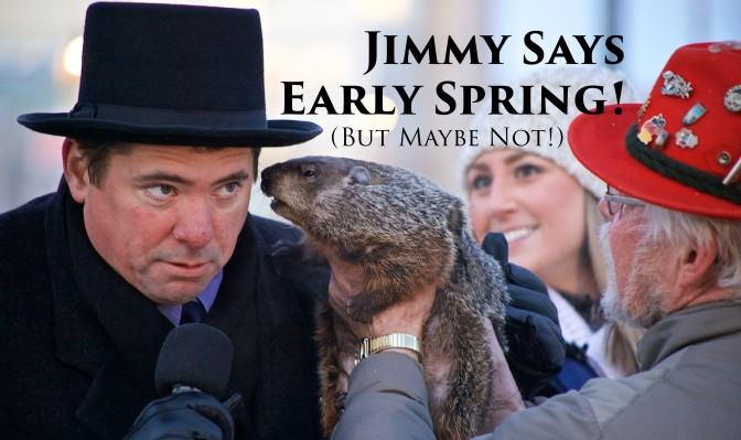 Jimmy the Groundhog Predicts Early Spring