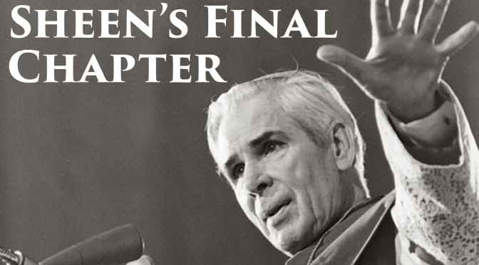 Unpublished Chapter a Portrait of Sainthood for Fulton J. Sheen