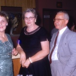 Ruby Hanneman (left) with sister-in-law Irma and brother-in-law Wilbert G. Hanneman.