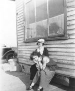 Ruby Treutel with her mother, Mary Treutel, taken in 1924 at Vesper, Wis.