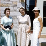 Ruby Hanneman (center) with daughter-in-law Mary K. Hanneman and daughter Lavonne.