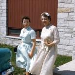 Ruby V. Hanneman with daughter-in-law Mary K. Hanneman.
