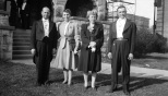 Carl and Ruby Hanneman (left) at a Knights of Columbus event in the early 1940s.