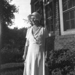 Ruby Hanneman at Vesper, Wisconsin in the late 1920s.