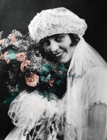 Ruby (Treutel) Hanneman on her wedding day, July 14, 1925.
