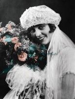 Ruby (Treutel) Hanneman on her wedding day, July 14, 1925.