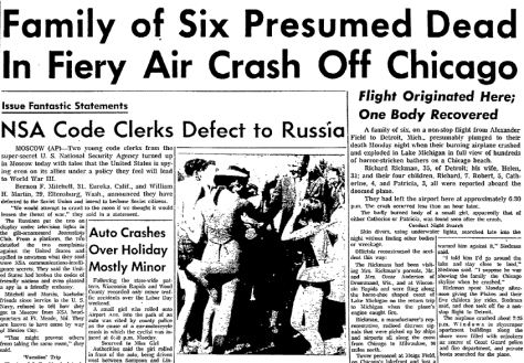 The Wisconsin Rapids Daily Tribune carried the horrifying news on September 6, 1960.