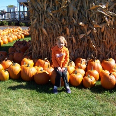 Ruby Hanneman at Swan's Pumpkin Farm in 2004.