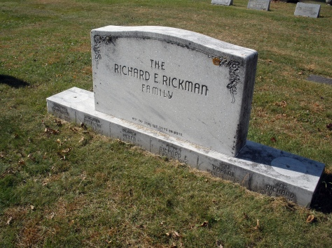 The six members of the Richard E. Rickman family are buried at Forest Hill Cemetery in Wisconsin Rapids.