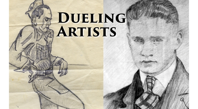 Carl and Wib Hanneman as Dueling Artists