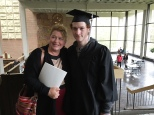 With Mom on graduation day.
