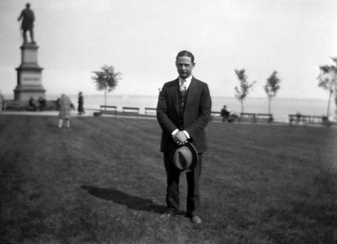 Carl F. Hanneman at Solomon Juneau Park in Milwaukee in 1924.