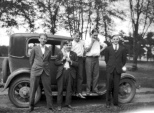 Marvin R. Treutel (center) with his Model T and his buddies, circa 1929. Read the original post here: http://wp.me/p4FxQb-GZ