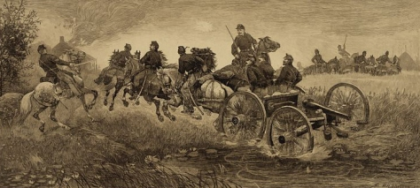 Battle of Chancellorsville etching by W.H. Shelton. – Library of Congress collection