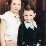 Lynne and Richard Hanneman, children of Wilbert G. and Irma Hanneman.