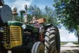 Ruby V. Hanneman sits atop a classic Oliver Super 99 diesel tractor. Read the original story here: http://wp.me/p4FxQb-Ja