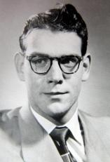 High school graduation portrait, 1951.