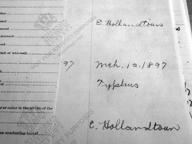 Elizabeth McQueen Chase was a Victim of Typhus in March 1897