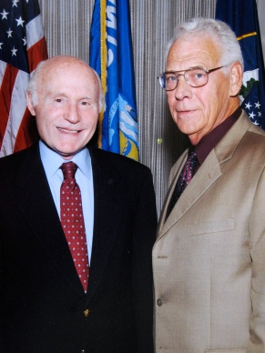 Sen. Herb Kohl with Ruby's grandpa, David D. Hanneman, former mayor of Sun Prairie.