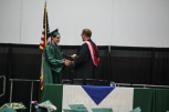 Ruby's cousin, Geoffrey LaCanne gets his diploma from WIVA just after Ruby.