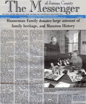 The Hanneman family donated historic photos and ephemera in 2007.