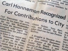 Carl F. Hanneman was honored by the city of Mauston in 1978. This article ran in the Juneau County Chronicle.