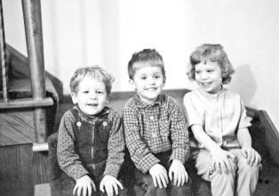 Joe and David Hanneman with cousin Laura in 1967.