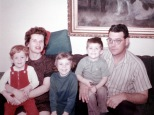 Joe Hanneman, Mary K. Hanneman, Laura Mulqueen, David C. Hanneman and David D. Hanneman, circa 1966.