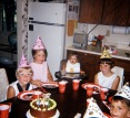 Birthday party: unknown girl, Marghi Hanneman, Amy Hanneman, Laura Mulqueen and Bill Fonti.