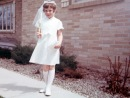Laura Mulqueen on the day of her First Communion.