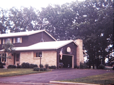 The Hanneman home, circa 1972.