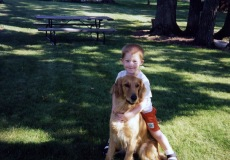 Stevie with our beloved Bailey, circa 1996.